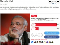 Narendra Modi Shortlisted Time Person The Year Title