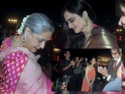 Amitabh Bachchan Jaya Bachchan Greet Rekha People Shocked