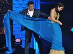 Salman Khan Teaches Adult Star Sunny Leone How Drape Saree
