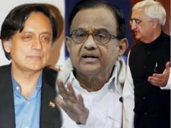 Congress Names Chidambaram Khurshid Shashi Tharoor As Spokesperson