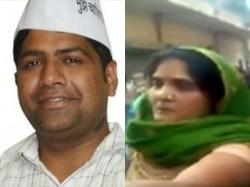 Aap Mla Dinesh Mohaniya Slapped By Women
