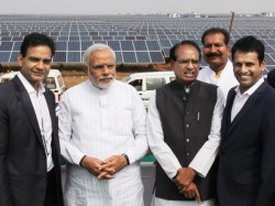 Modi Dedicates Solar Power Plant Nation At Neemuch Madhya Pradesh
