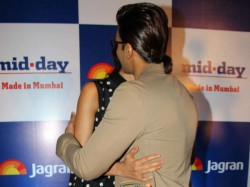 Bollywood Celebs At Mid Day Relaunch Party Ranveer Deepika Hug