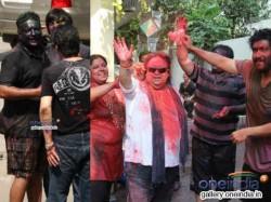 More Pictures Bappi Lahiri Sanjay Gupta Celebrates Holi