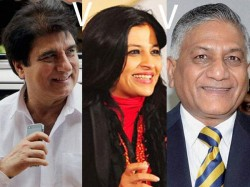 Ghaziabad Fight Between Raj Babbar Vk Singh Shazia Ilmi Lse