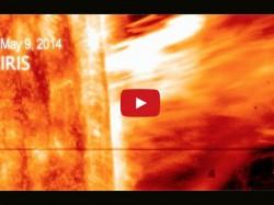 A First Nasa S Iris Observing Gigantic Eruption Solar Material