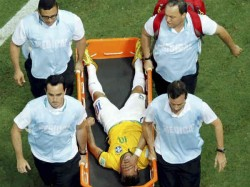 Brazil S Neymar Screams After Being Fouled During The Quarterfinal