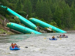 A Freight Train Derails Montana River Boeing Fuselages Fall Into River In Us