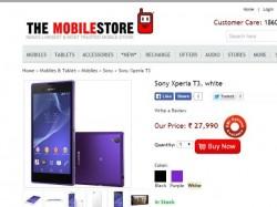 Sony Xperia T3 Best Online Deals Buy