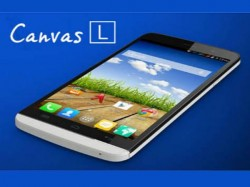 Micromax Canvas L A108 With 5 5 Inch Display Kitkat Os Launch Soon