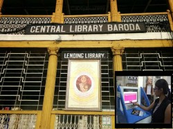 Gujarat First Hi Tech Library Started In Vadodara Readers Getting Books From Machin