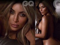Kim Kardashian Voted Woman Of The Year Bares It All In British Gq Magazine