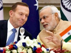 Tony Abbott Hands Over 10th Centuries Idol Narendra Modi