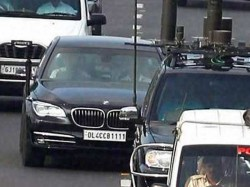 Pm Modi His High Sercurty Car Bmw 760li