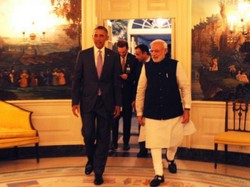 Pics Narendra Modi Barack Obama Meeting At Private Dinner White House