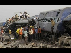 Two Trains Collide Near Gorakhpur Many Feared Dead