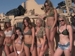 Hot Photo Shoot With American Army Property