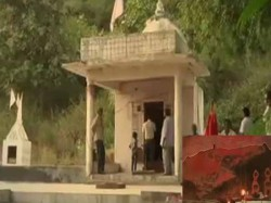 Unique Temple Modasa Where There Worship Mountain Sheila