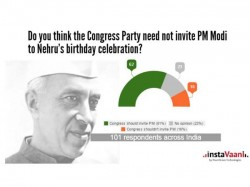 Nehru S Birthday Congress Should Invite Modi Says Instavaani Poll