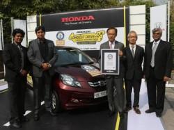 Honda Amaze Drives Into Guinness World Records