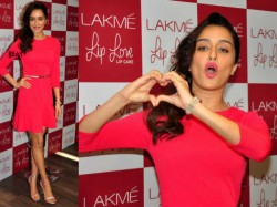 Shraddha Kapoor Looks Pretty In Pink Lakme Love Lips Care