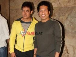 Pics Sachin Tendulkar Raj Thackeray Aamir Khan Pk Special Screening