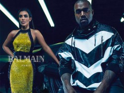 Kim Kardashian And Kanye West Get Cosy For Balmain Ad