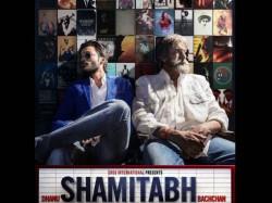 Shamitabh Poster Three Dhanush Amitabh Bachchan Akshara Hassan