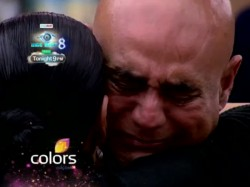 Bigg Boss 8 Puneet Issar Sees Wife After 100 Days Cries Like Baby