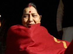 Is Sushma Swaraj Unhappy With Journalists