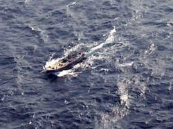 Indian Coast Guard Navy Grabs Suspicious Pakistani Boat Near Porbandar