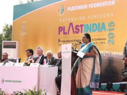 Gujarat Cm Inaugurate Plast India 2015 At Vapi Gujarat