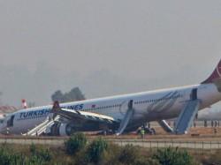 Turkish Airlines Plane Skids Off Runway Kathmandu
