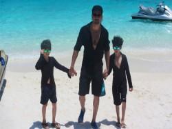 Pics Hrithik Roshan S Adventurous Holiday With Sons At Maldives