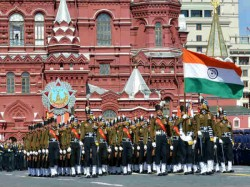 Pics India President Indian Army Victory Day Celebration Russia