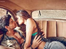 Sooraj Pancholi Athiya Shetty Photoshoot Inside Car