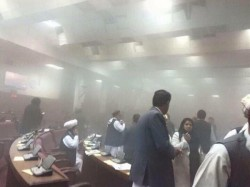 Blast At Afghanistan Parliament Continues Many Injured