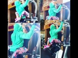 Bipasha Basu Karan Singh Grover Hot Intimate Pics In Gym While Working Out