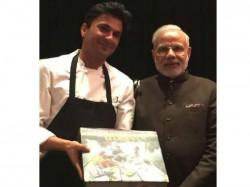 Govt Takes Back Flag From Chef Vikas Khanna Autographed Pm Modi Newyork Us
