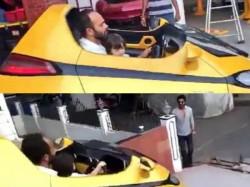 So Cute Shahrukh Khan Takes His Little Son Abram Khan A Drive