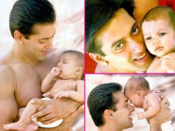 Adorable Pics Salman Khan Kissing His Little Fans 027633 Pg