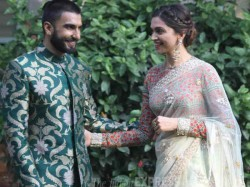 Photos Ranveer Singh Touching Deepika Feet Blessing