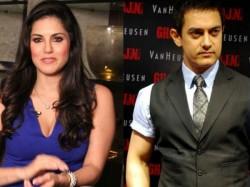 Sunny Leone Aamir Khan Together On Dangal Sets
