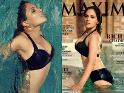 Too Hot Richa Chadda On The Cover Page Maxim India
