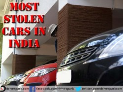 Top 10 Most Stolen Cars India