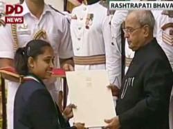 President Pranab Mukherjee Give Away National Sports Awards
