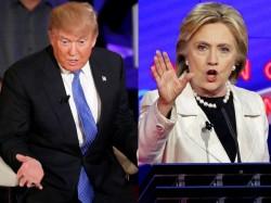 Hillary Clinton Donald Trump Face Face The First Presidential Debate
