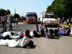Surendranagar Dalit Strike Blocked Road