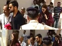 Birthday Boy Virat Kohli Actress Anushka Sharma Arrived At Rajkot