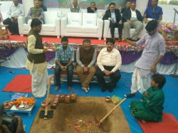 In Ahmedabad Motera Stadium Foundation Ceremony Held